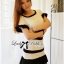 Lady Ribbon Minimal Chic Set ชุดเซ็ทเสื้อครอปและกระโปรง สีขาวดำ thumbnail 6