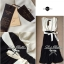 Lady Ribbon Maxi Dress เดรสยาวโทนสีครีมดำ ผูกโบว์ thumbnail 10