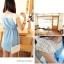 Cherry KOKO เดรสผ้าฝ้ายสีฟ้า ตัดต่อผ้าฉลุลายดอก thumbnail 8