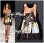Lady Ribbon Dress เดรสพิมพ์ลายยีราฟสีสันสดใส thumbnail 2