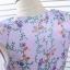 เดรสสีม่วง พิมพ์ลายดอกไม้ พร้อมผ้าผูกโบว์ที่เอวด้านหลัง thumbnail 8