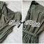 Lady Ribbon Jumpsuit จั๊มสูทขายาว ทรงแขนกุด สีเขียวขี้ม้า thumbnail 8