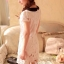 IceVanilla Floral Short Sleeve White Lace Dress thumbnail 5