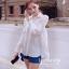 IceVanilla Pearl&Diamond Stitch Chiffon Shirt thumbnail 3