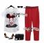 Lady Ribbon Girl Printed Top and Red Pants Set thumbnail 2