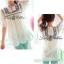 Lady Ribbon เสื้อตัวยาวปักครอสติส แขนตุ๊กตา สีขาว สีกรมท่า thumbnail 10