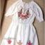 Lady Ribbon มินิเดรสสีขาว ปักดอกไม้สีสดใส แต่งโบว์ thumbnail 8