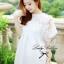 Lady Ribbon Chiffon Dress เดรสผ้าชีฟอง ปักลายลูกไม้ อัดพลีทด้านหลัง thumbnail 1
