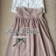 Lady Ribbon Vintage Set เสื้อแขนกุดผ้าแก้วลายลูกไม้กับกระโปรงบาน thumbnail 9
