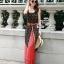 Odee Cutie Bohemian Maxi Dress แม็กซี่เดรสสายเดี่ยวสไตล์ vintage thumbnail 1