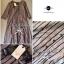 Lady Ribbon Stripe Maxi Dress แม็กซี่ลายทาง โทนสีน้ำตาล thumbnail 11