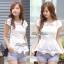 Lady Ribbon เสื้อปักฉลุกุหลาบ ระบายชาย สีขาว ชมพู กรมท่า thumbnail 7
