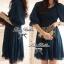 Lady Ribbon Dolly Mini Dress เดรสสีกรมท่า เเขนตุ๊กตา thumbnail 5