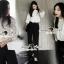 Seoul Secret Lovely Lace Chest Line Bolloon Blouse thumbnail 5