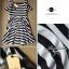 Lady Ribbon เดรสผ้าเจอร์ซีย์ลายทางขาวดำ เปิดไหล่ thumbnail 10