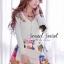 Seoul Secret เสื้อคาร์ดิแกน ผ้าไหมพรมประดับเพชรหลากสี thumbnail 4
