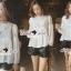 Seoul Secret Lovely Lace Chest Line Bolloon Blouse thumbnail 2