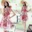 Lady Ribbon Rosalyn Dress เดรสลายดอกไม้ พร้อมริบบิ้นผูกเอว thumbnail 5