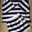 Stripe Jersey Mini Skirt Set เซ็ตเสื้อ กระโปรง ลายขวางขาวดำ thumbnail 11