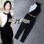 Lady Ribbon Black and White Jumpsuit with Belt thumbnail 5
