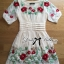 Lady Ribbon Floral Embroidered Draping Chiffon Dress thumbnail 9