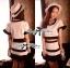 Lady Ribbon Minimal Chic Set ชุดเซ็ทเสื้อครอปและกระโปรง สีขาวดำ thumbnail 5