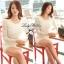 Lady Ribbon Lace Mini Dress มินิเดรสแขนยาว ดีเทลลูกไม้ทั้งตัว thumbnail 10