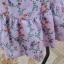 เดรสสีม่วง พิมพ์ลายดอกไม้ พร้อมผ้าผูกโบว์ที่เอวด้านหลัง thumbnail 11
