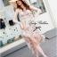 Lady Mermaid Dress ชุดกระโปรงหน้าสั้น หลังยาวทรงหางปลา thumbnail 8