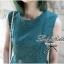 Lady Ribbon มินิเดรสแขนกุด สีเขียว ชายกระโปรงทรงเก๋ๆ thumbnail 2