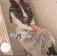 Lady Ribbon เสื้อเชิ้ตแขนยาว สีขาว ต่อผ้าลูกไม้ซีทรูเป็นกระโปรงยาว thumbnail 6