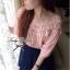 Lady Ribbon เสื้อผ้าคอตตอน สีชมพู ขาว กรมท่า ปักลายดอกไม้ thumbnail 5