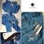 Lady Ribbon Denim Set เซ็ตเสื้อเปิดไหล่ กางเกงยีนส์ฟอก thumbnail 7