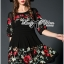 Lady Ribbon Floral Embroidered Draping Chiffon Dress thumbnail 4