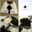 เสื้อคลุมขาวขอบดำ ดีเทลแต่งขอบมุก ขายพร้อมผ้าพันคอชีฟอง thumbnail 4