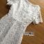 Lady Ribbon Maxi Dress เดรสยาวผ้าลูกไม้สีขาว thumbnail 7