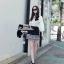 Lady Ribbon Black Graphic Skirt กระโปรงสีดำ ทอลายกราฟฟิก thumbnail 2
