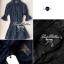 Lady Ribbon เชิ้ตเดรสสุดหรูจับ สม็อคช่วงเอวและช่วงแขน สีขาว สีดำ thumbnail 12