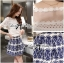 Lady Ribbon Lace Top and Printed Skirt Set thumbnail 5