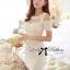 Lady Ribbon เดรสตัดต่อผ้าซีทรู ช่วงอกประดับมุกและดอกไม้สุดหรู thumbnail 1