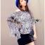 Lady Ribbon Poncho เสื้อประดับพู่ลายเสือ thumbnail 2