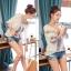 Lady Ribbon เสื้อปักครอสติสเกาหลี สม็อคคอเสื้อ ผูกโบว์ thumbnail 5