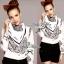 Lady Ribbon เสื้อเชิ้ตพิมพ์ลาย Chanel พร้อมผ้าพันคอ thumbnail 3