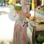 Lady Ribbon Colourful Chiffon Pleated Maxi Dress thumbnail 4