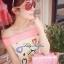 Lady Ribbon มินิเดรสเปิดไหล่ พิมพ์ลายหัวใจสดใส thumbnail 5
