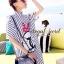 Stripy CC Bow Print Dress Shirt by Seoul Secret thumbnail 5