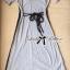 Lady Ribbon Maxi Dress เดรสยาวตัดต่อช่วงไหล่ ทูโทนสีเทาดำ thumbnail 9