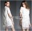 Lady Ribbon Crystal Embellished Organza Shirt Dress thumbnail 2