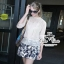 Odee Cutie ชุดเซ็ทเสื้อชีฟอง กระโปรงสั้นสไตล์ Zara thumbnail 1