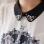 Icevanilla เสื้อแต่งด้วยผ้าพิมพ์ลายหน้าแมวประดับมุกและลูกปัด thumbnail 7